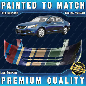 New Painted To Match Front Bumper Cover Fascia For 2008 2010 Honda Accord W Fog