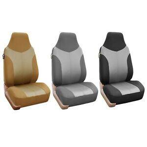 High Back Bucket Seat Supreme Twill Car Seat Covers Full Set Universal Fit