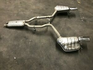Mercedes Benz E350 W207 Oem 2010 13 Pair Rear Dual Exhaust Muffler Pipes Tips