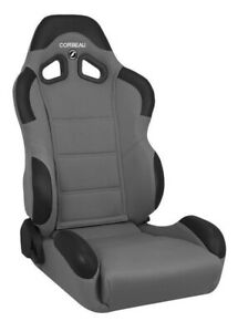 Corbeau Cr1 Racing Seats Black Grey Cloth Reclining Discontinued Model Pair
