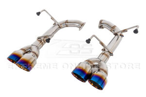 For 15 up Subaru Wrx Sti Muffler Delete Axle Back 4 Inch Quad Burnt Tips Exhaust