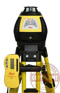 Leica Rugby 50 Self Leveling Rotary Laser Level transit topcon dewalt Spectra