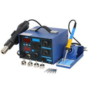 Us 2in1 862d smd Soldering Iron Hot Air Rework Station Led Display W 4 Nozzles