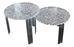 Kartell Patricia Urquiola Hollywood Regency Mcm Lucite T Tables A Pair
