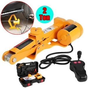 2 Ton 4409 Lbs Automotive Electric Scissor Car Jack Lifting Tools Kit 12v