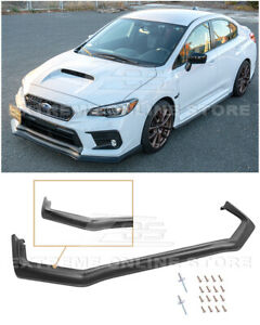 For 18 Up Subaru Wrx Sti Cs Style Primer Black Front Bumper Lower Lip Splitter