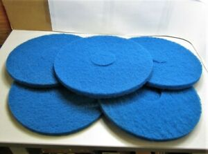Floor Buffer Pads Blue 14 Dia 3 1 2 Arbor 1 Thick Qty 5 New