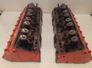 1969 1974 Chevy Small Block Cylinder Heads 3932441 832441 Original Oem