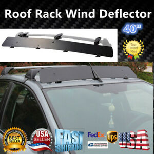 Universally Fit Rooftop 40 Roof Rack Crossbar Wind Fairing Air Deflector Kit