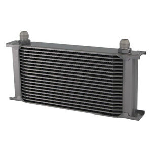 19 Row An10 Engine 248mm Aluminum Oil Cooler Radiator Mocal Style Silver