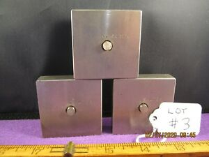 Precision Machinist Tools 3 Pc Lot 3 Mystery Parts Flat Bar Stock Tool Steel