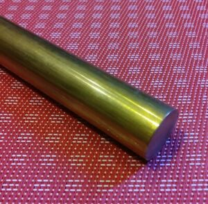 1 Diameter X 12 Long C360 Brass Rod New Solid Round Bar Stock Mt