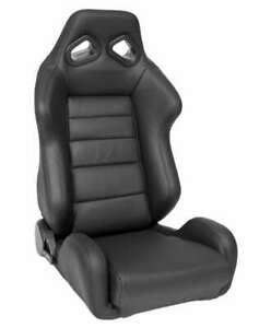 Corbeau Trs Racing Seat Black Leather Reclining Passenger Discontinued Model