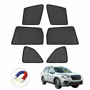 6pcs Car Window Sun Shades Side Sun Visor For Subaru Forester 2019