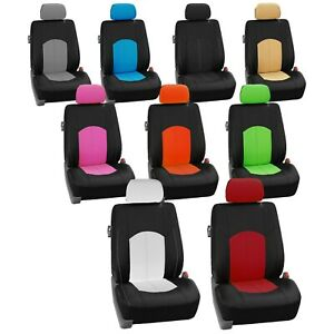 Car Seat Covers Highest Grade Faux Leather Full Set Universal Fit Auto Truck Suv