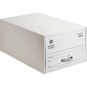 case Of 6 Business Source 26745 Stackable Storage Drawers Legal White