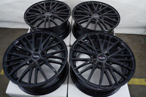 18x8 5x114 3 Black Wheels Fits Nissan Altima Maxima Sentra Rogue Juke Leaf Rims