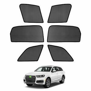 6pcs Car Window Sun Shades Side Sun Visors For Audi Q7 2015 2016 2017 2018 2019