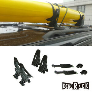 Universal 1 Set 4 Roof Rack Cross Bars Mounted Saddles Kayak Boat Canoe Carrier