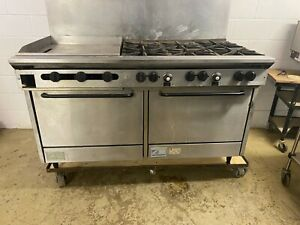 Southbend Gas 6 Burner 24 Flat Grill 2 Ovens