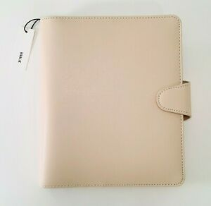 New Kikki k Leather Personal Planner A5 Large Almond Planner W dust Bag