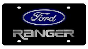 New Ford Ranger Blue Logo Acrylic License Plate