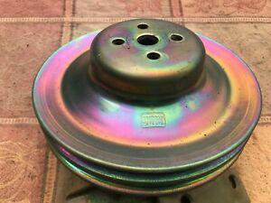 Ford Water Pump Pulley 2 Groove C8ae 8509 A 390 1968 1971