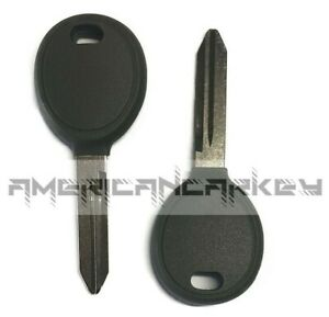 2 New Uncut Ignition Chipped Key With Transponder Chip Blank For 46 Transponder