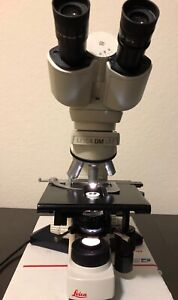 Leica Dm Sl2 Phase Contrast Microscope Plan 10x 20x 40x New Cosmetic Tested Deal