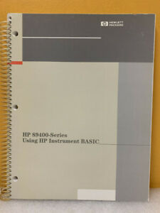 Hp 89441 90013 89400 series Vector Signal Analyzers Using Instrument Basic