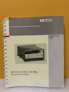 Hp 53131 90044 53131a 132a 225 Mhz Universal Counter Programming Guide