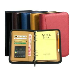 Business Office Faux Leather Notebook Zipper Personal Dairy Planner Organizer
