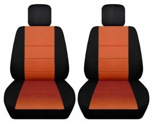 Front Set Car Seat Covers Fits Chevy Hhr 2006 2011 Black And Burnt Orange