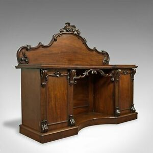 Large Antique Sideboard English Victorian Mahogany Dresser Circa 1850