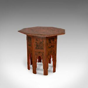 Antique Occasional Table Victorian Chinese Elm Octagonal Coffee Moorish