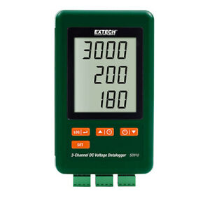 Extech Sd910 3 channel Dc Voltage Datalogger