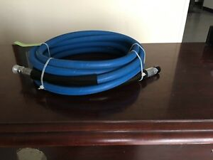 Non marking Blue Pressure Washer Hose Assembly 50 Ft 3 8 Id 4 000 Psi