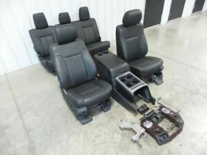 11 16 Ford F250 Leather Seats Crew Cab Seat Set W Console 510640