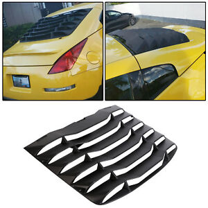 For 03 08 Nissan 350z Matte Black Rear Windshield Louvers Cover Abs