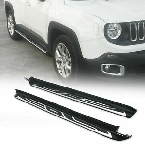 For Jeep Renegade 2016 2019 Side Step Nerf Bar Running Board Pair Aluminum Us