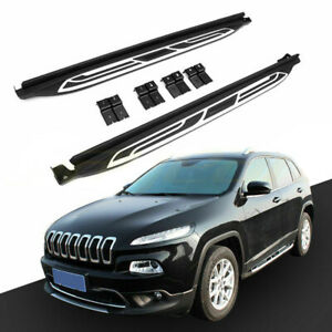Side Step Nerf Bar Running Board Pair For Jeep Cherokee 2016 2019 Black New
