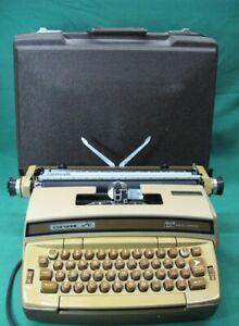 Vintage Smith corona Typewriter Coronet Super 12 Golden Brown Refurbished