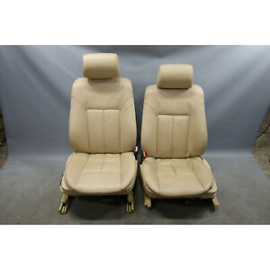 1999 2003 Bmw E39 5 series E38 Front Seat Pair Sand Beige Leather Heated Oem