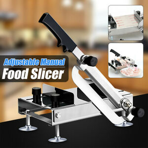 Manual Frozen Food Meat Slicer Adjustable Beef Mutton Cleavers Kitchen Cutter