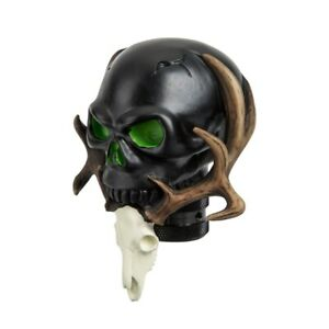 New Design Car Black Resin Skull Manual Shift Shifter Lever Knob Universal