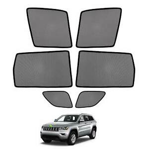 6pcs Car Window Sun Shades Side Sun Visors For Jeep Grand Cherokee 2011 2020