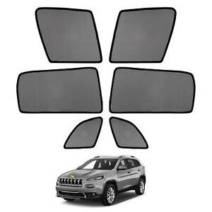 Car Window Sun Shades Side Sun Visors For Jeep Cherokee 2014 2017 2018 2019 2020