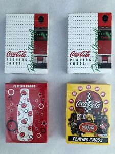 (4) Sealed Decks Of Coca-Cola Bicycle Playing Cards NASCAR