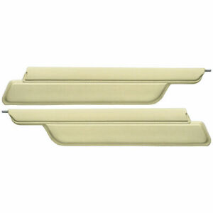 New 1963 64 Galaxie Fastback Sunvisors Lh Rh Parchment 500xl Ford
