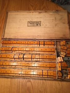 Vintage The Teacher S Handy Printing Press Wooden Letter Blocks By Flanagan Co